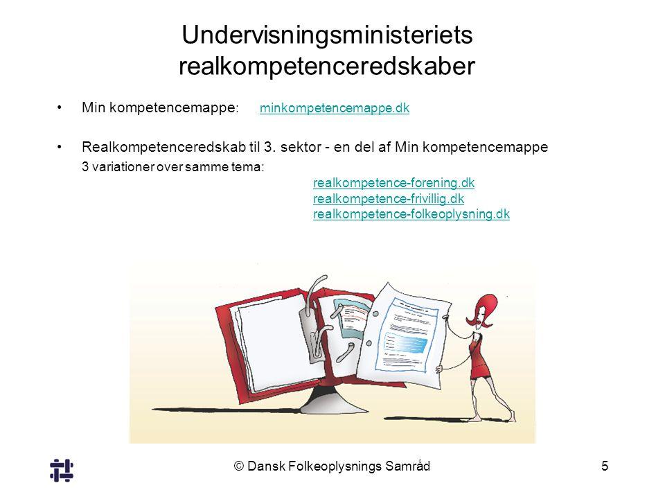 Undervisningsministeriets realkompetenceredskaber