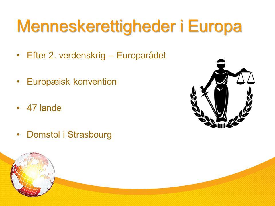 Menneskerettigheder i Europa