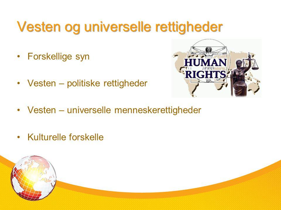 Vesten og universelle rettigheder