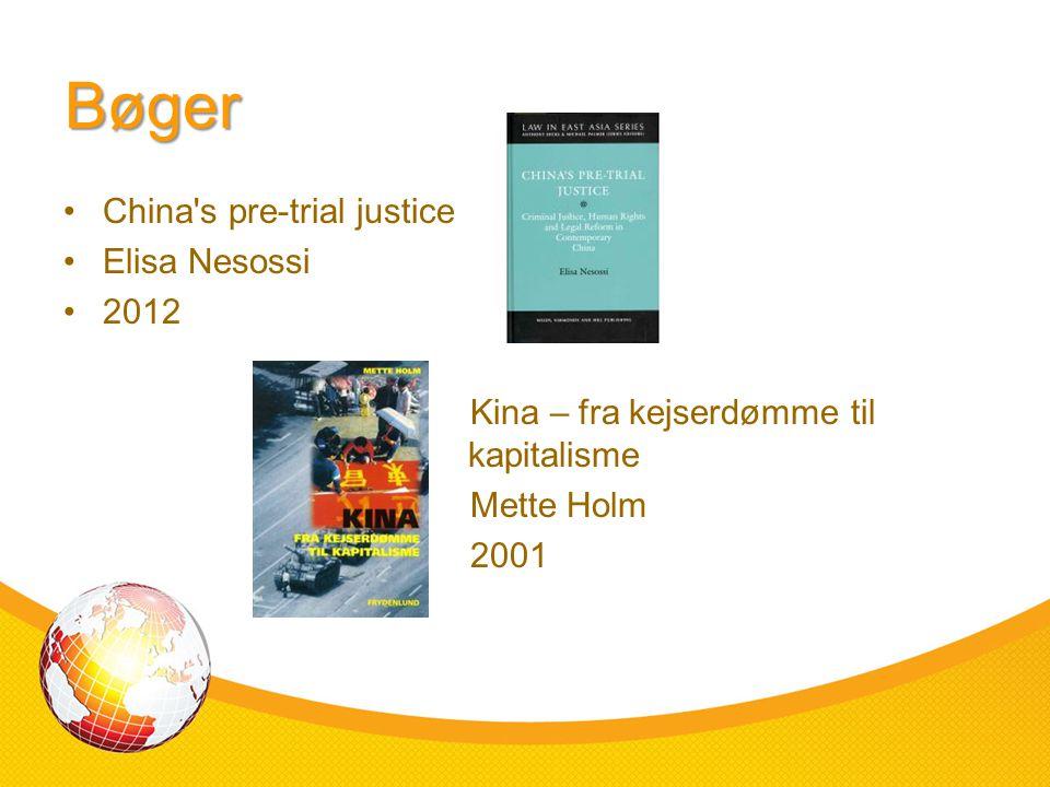 Bøger China s pre-trial justice Elisa Nesossi 2012