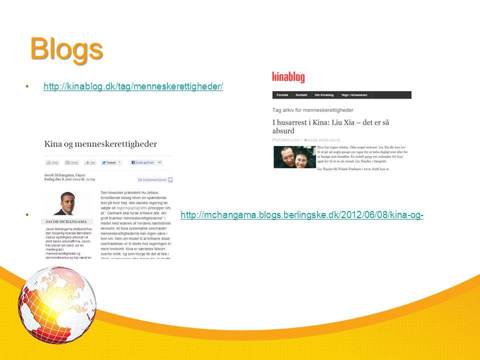Blogs http://kinablog.dk/tag/menneskerettigheder/