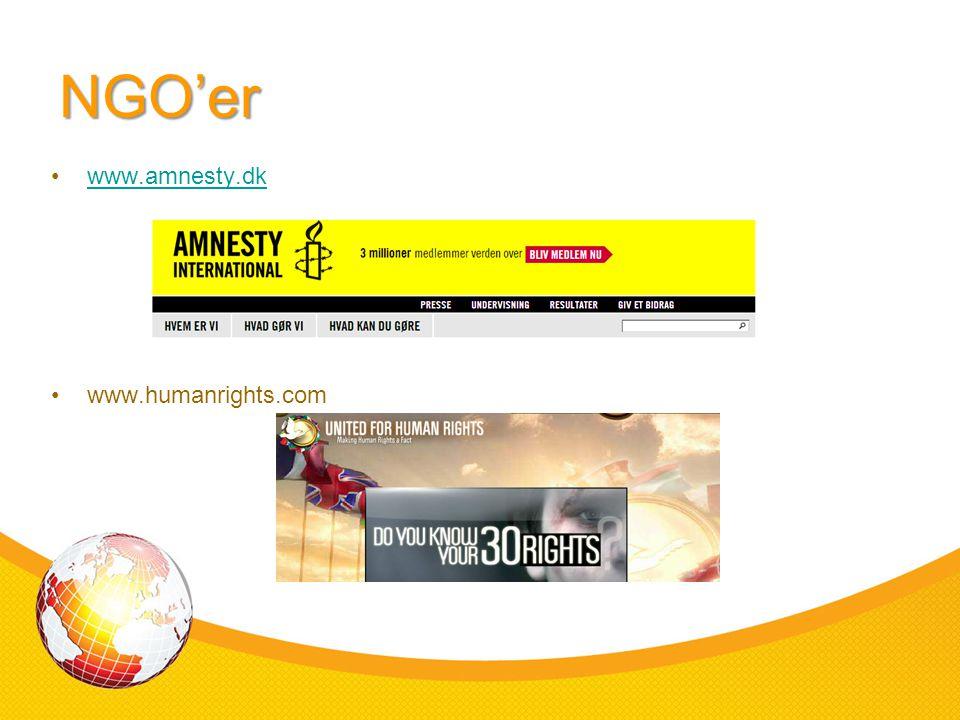 NGO'er www.amnesty.dk www.humanrights.com
