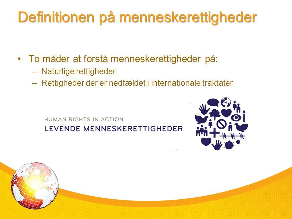 Definitionen på menneskerettigheder