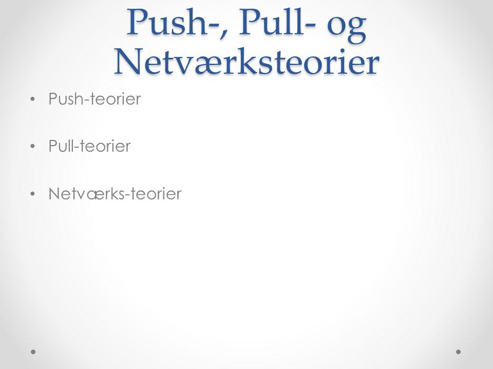 Push-, Pull- og Netværksteorier