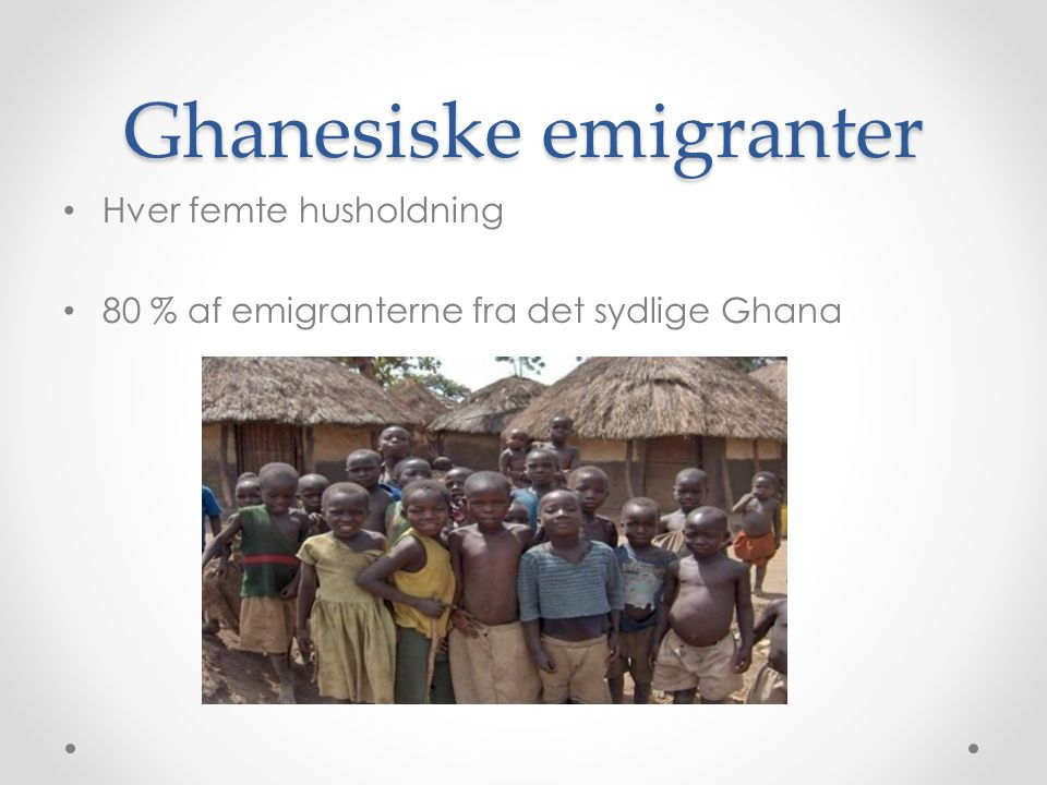 Ghanesiske emigranter