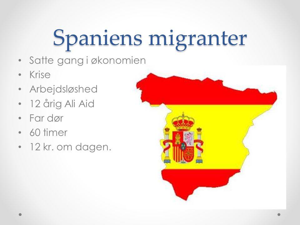 Spaniens migranter Satte gang i økonomien Krise Arbejdsløshed