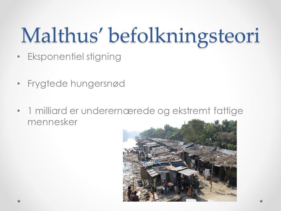 Malthus' befolkningsteori