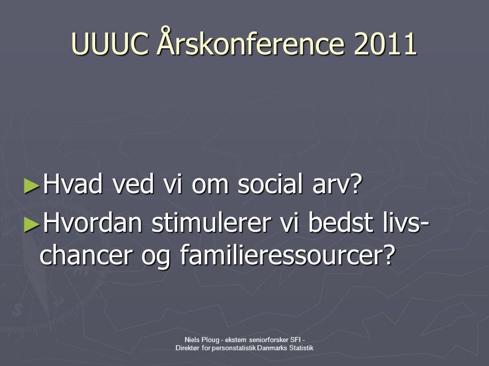 UUUC Årskonference 2011 Hvad ved vi om social arv