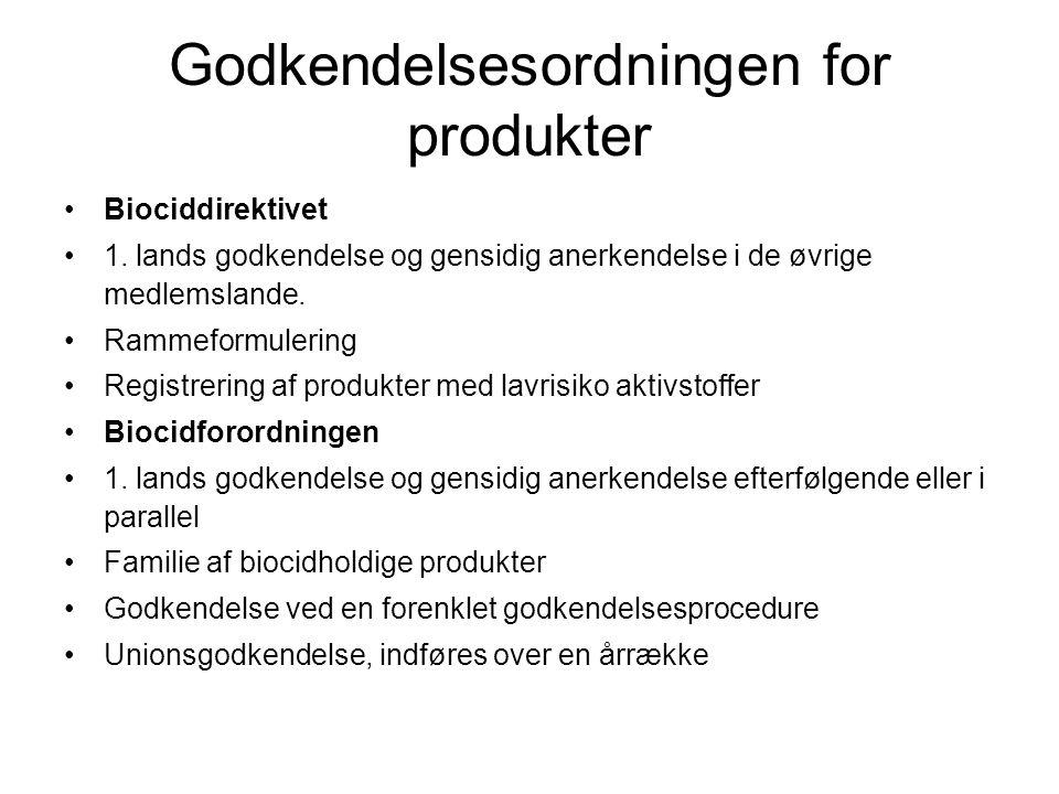 Godkendelsesordningen for produkter