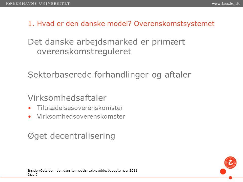 1. Hvad er den danske model Overenskomstsystemet