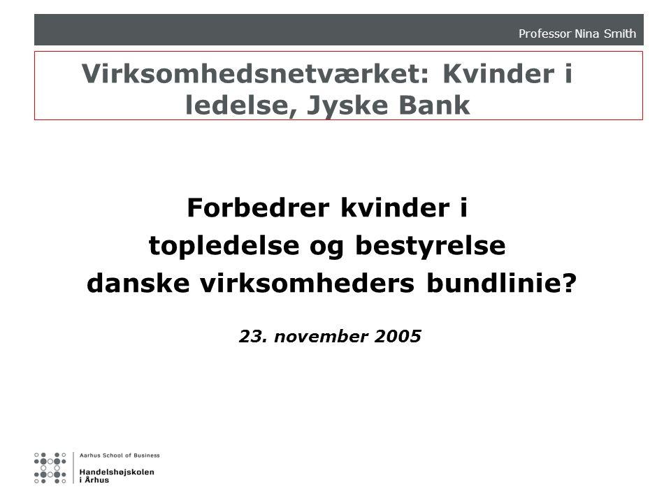 Virksomhedsnetværket: Kvinder i ledelse, Jyske Bank