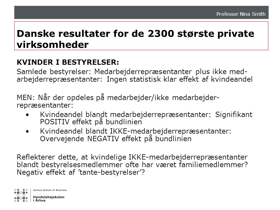 Danske resultater for de 2300 største private virksomheder