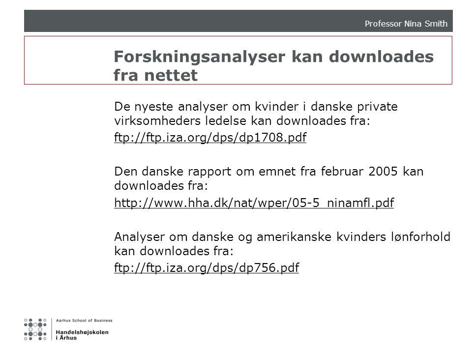 Forskningsanalyser kan downloades fra nettet