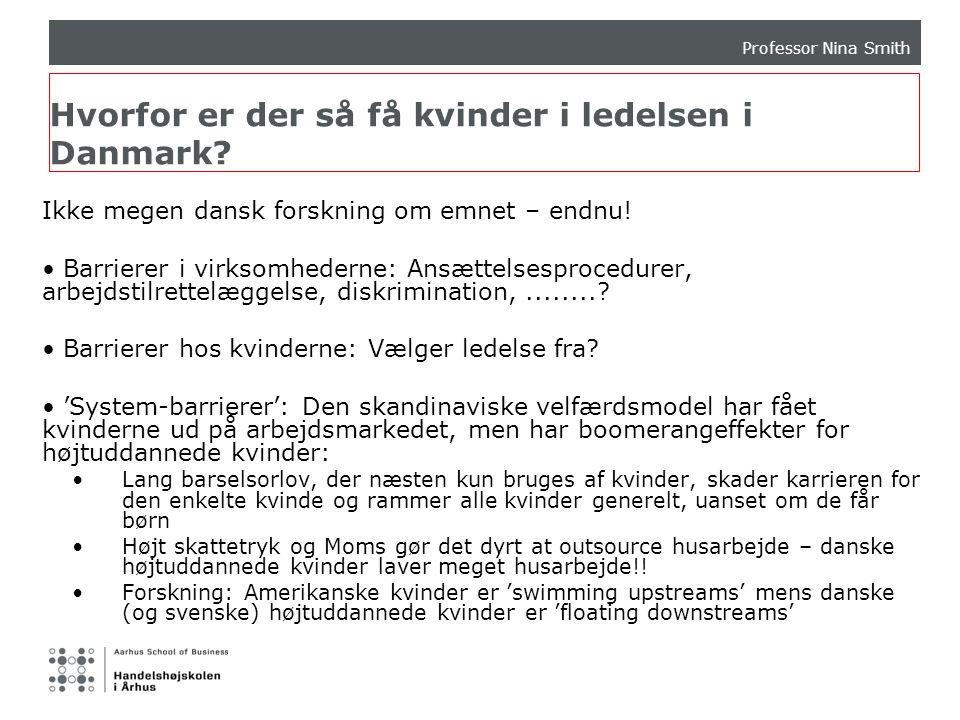 Hvorfor er der så få kvinder i ledelsen i Danmark