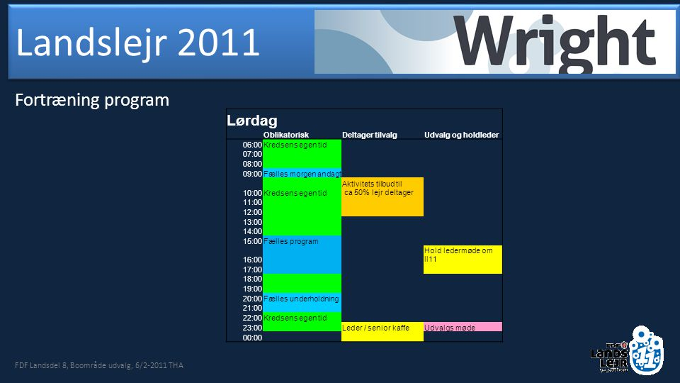 FDF Landsdel 8, Boområde udvalg, 6/2-2011 THA