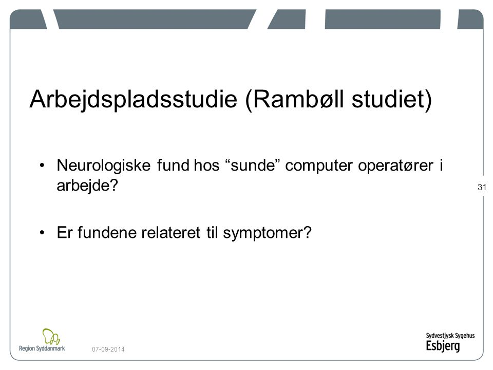 Arbejdspladsstudie (Rambøll studiet)