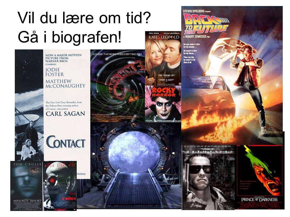 Vil du lære om tid Gå i biografen!