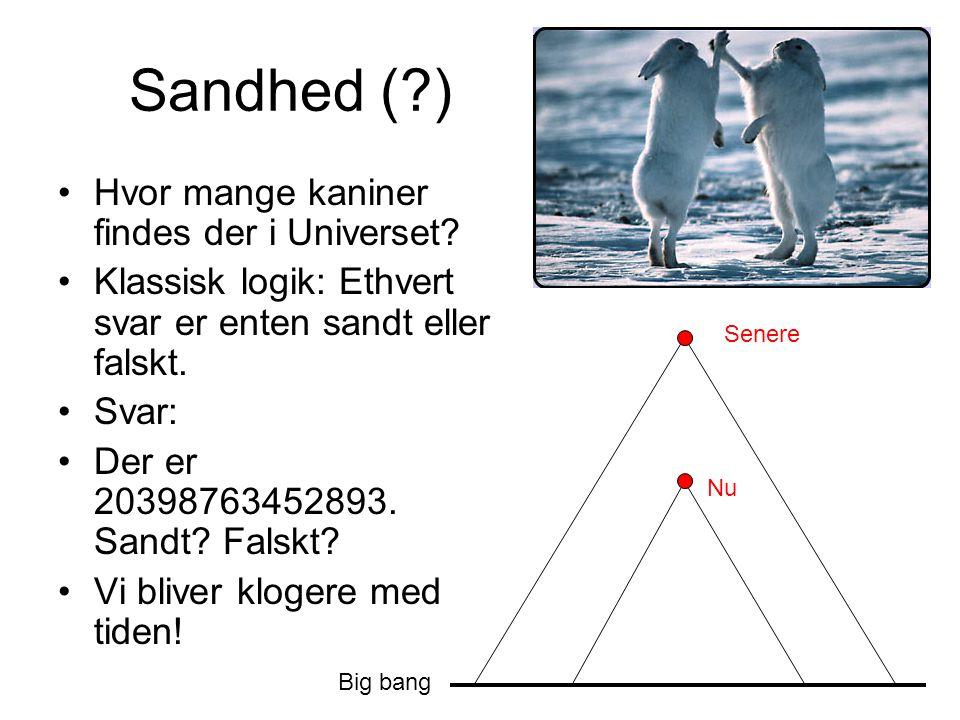 Sandhed ( ) Hvor mange kaniner findes der i Universet