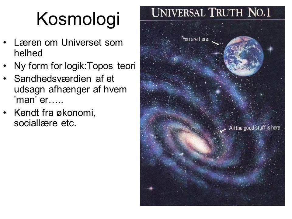 Kosmologi Læren om Universet som helhed Ny form for logik:Topos teori