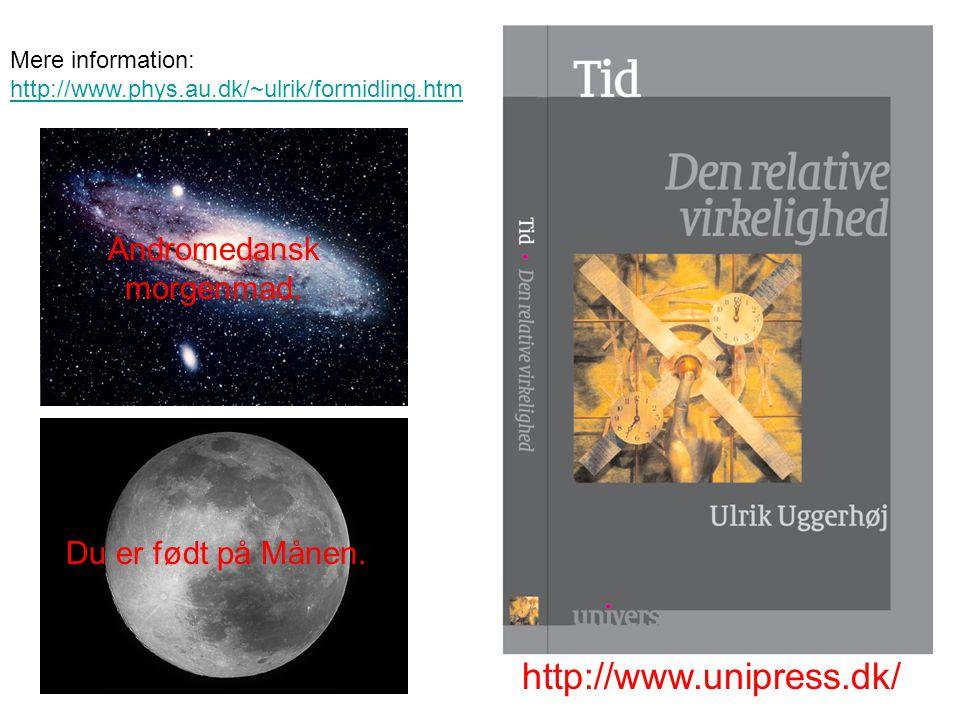 http://www.unipress.dk/ Andromedansk morgenmad. Du er født på Månen.