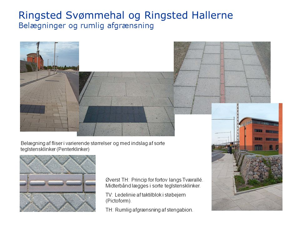 Ringsted Svømmehal og Ringsted Hallerne Belægninger og rumlig afgrænsning