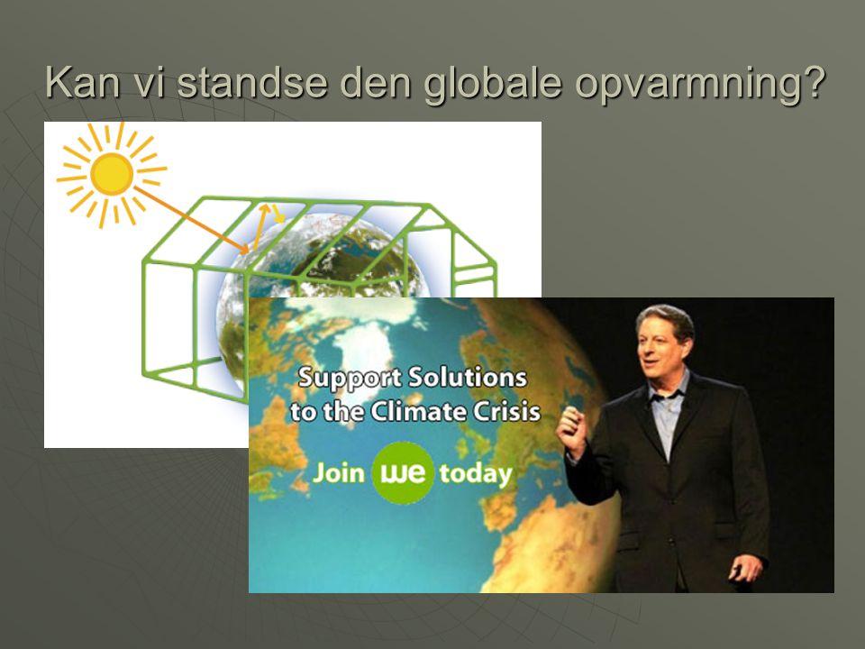 Kan vi standse den globale opvarmning
