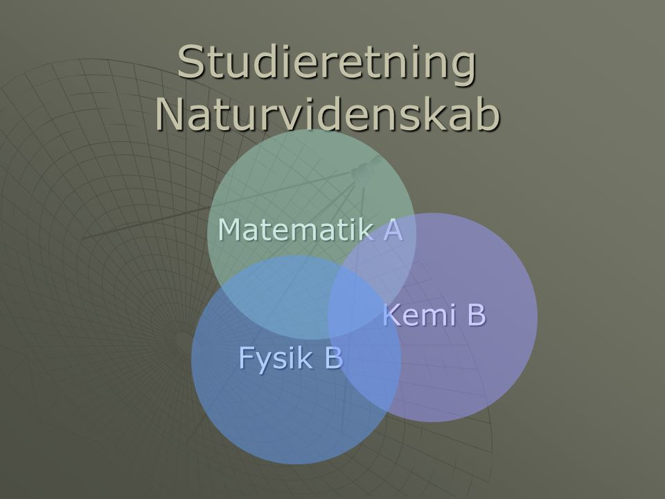 Studieretning Naturvidenskab