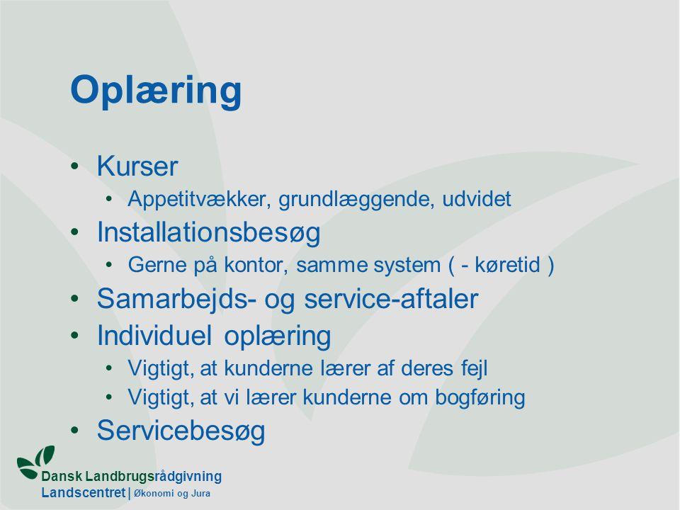 Oplæring Kurser Installationsbesøg Samarbejds- og service-aftaler