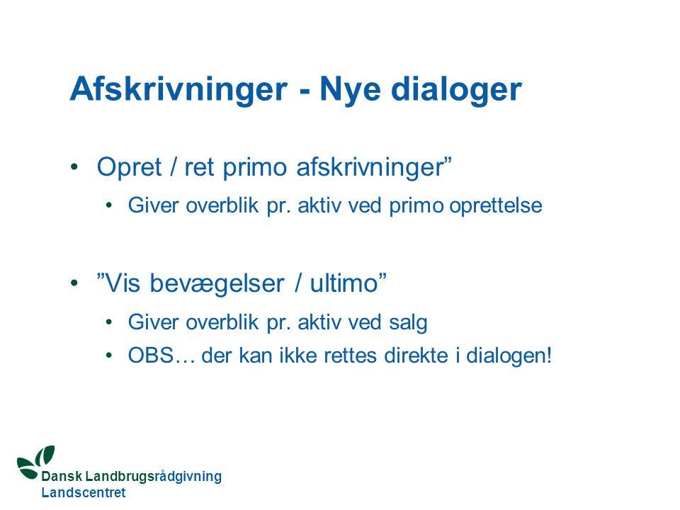 Afskrivninger - Nye dialoger
