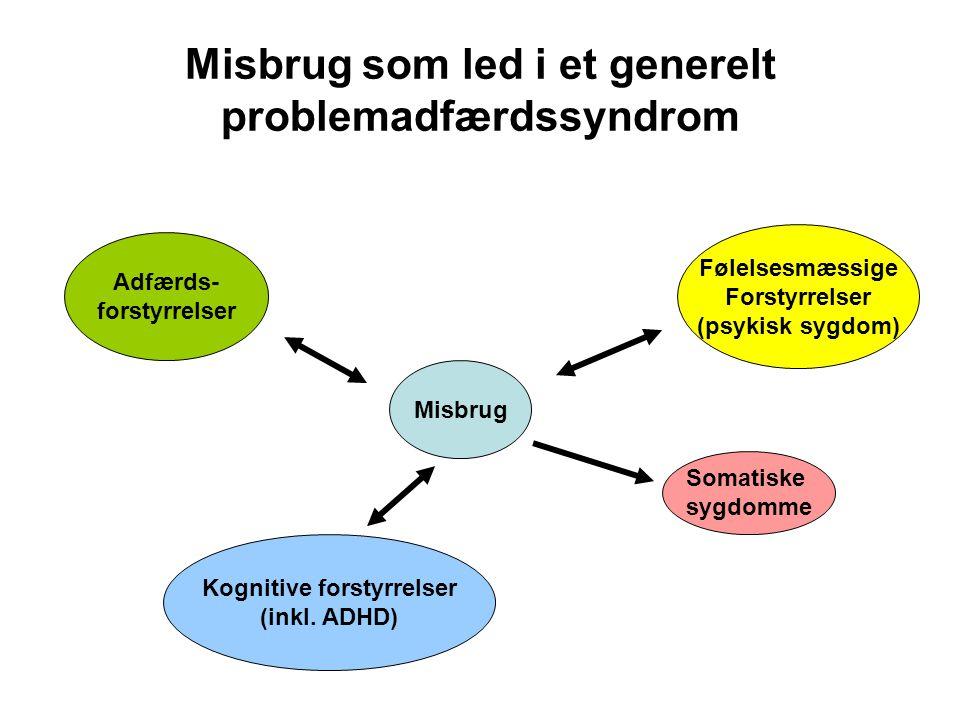Misbrug som led i et generelt problemadfærdssyndrom