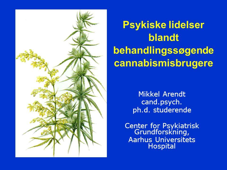 Psykiske lidelser blandt behandlingssøgende cannabismisbrugere