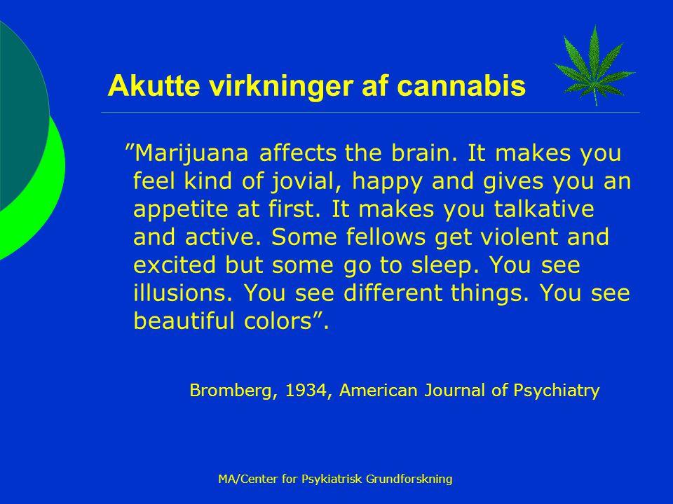 Akutte virkninger af cannabis