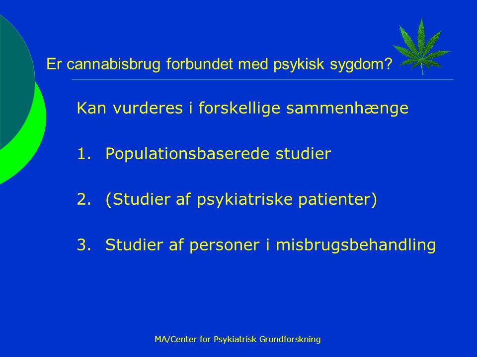 Er cannabisbrug forbundet med psykisk sygdom