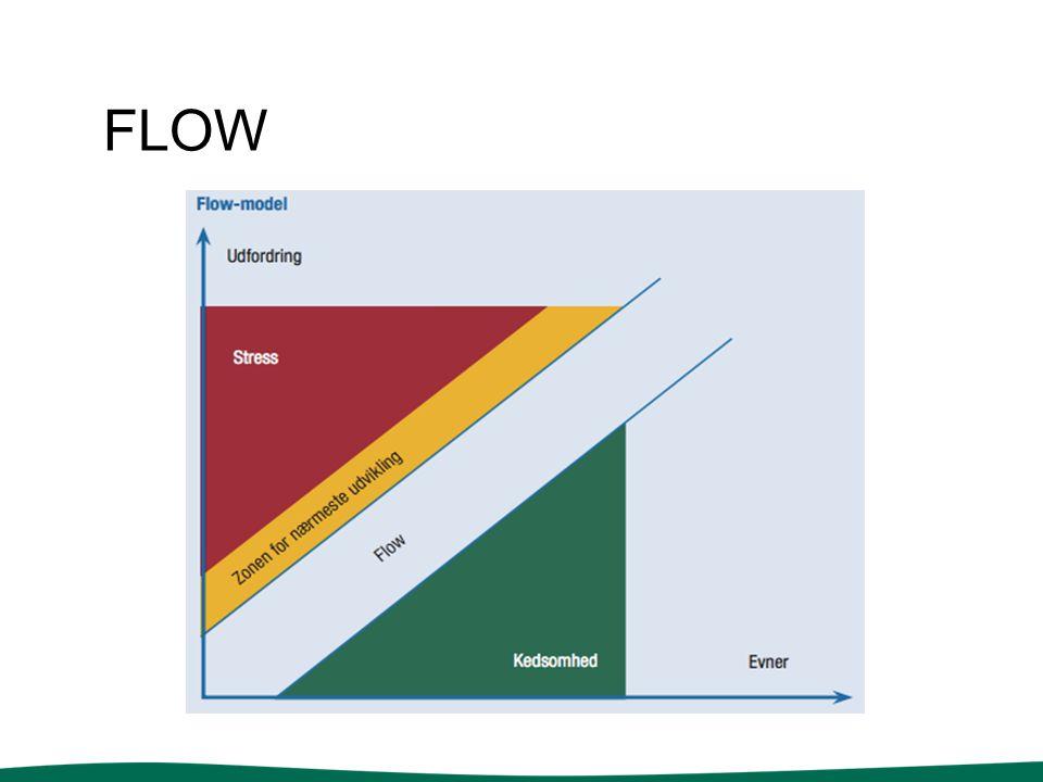flow Overensstemmelse mellem udfordringer og evner, når vi tænker nye turneringsformer og træningsøvelser.