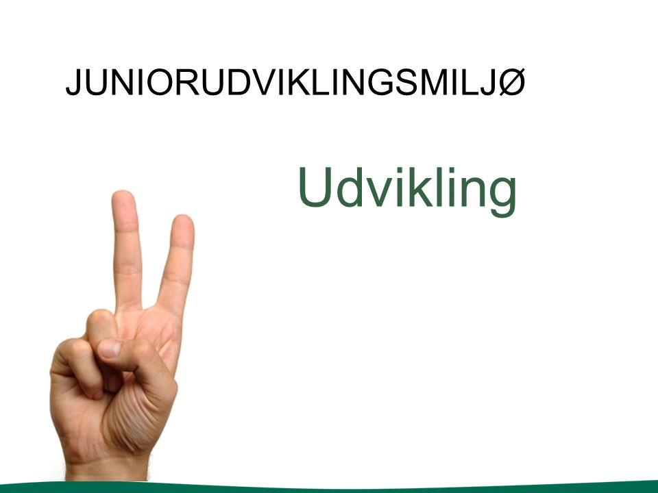 JUNIORUDVIKLINGSMILJØ