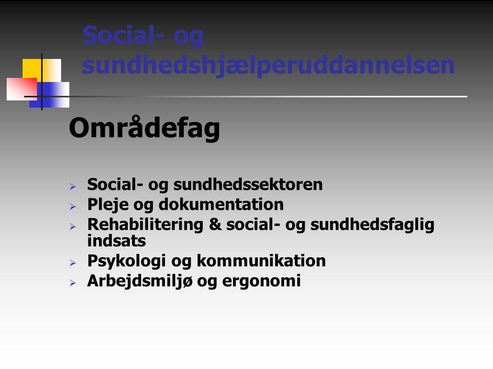 Områdefag Social- og sundhedshjælperuddannelsen