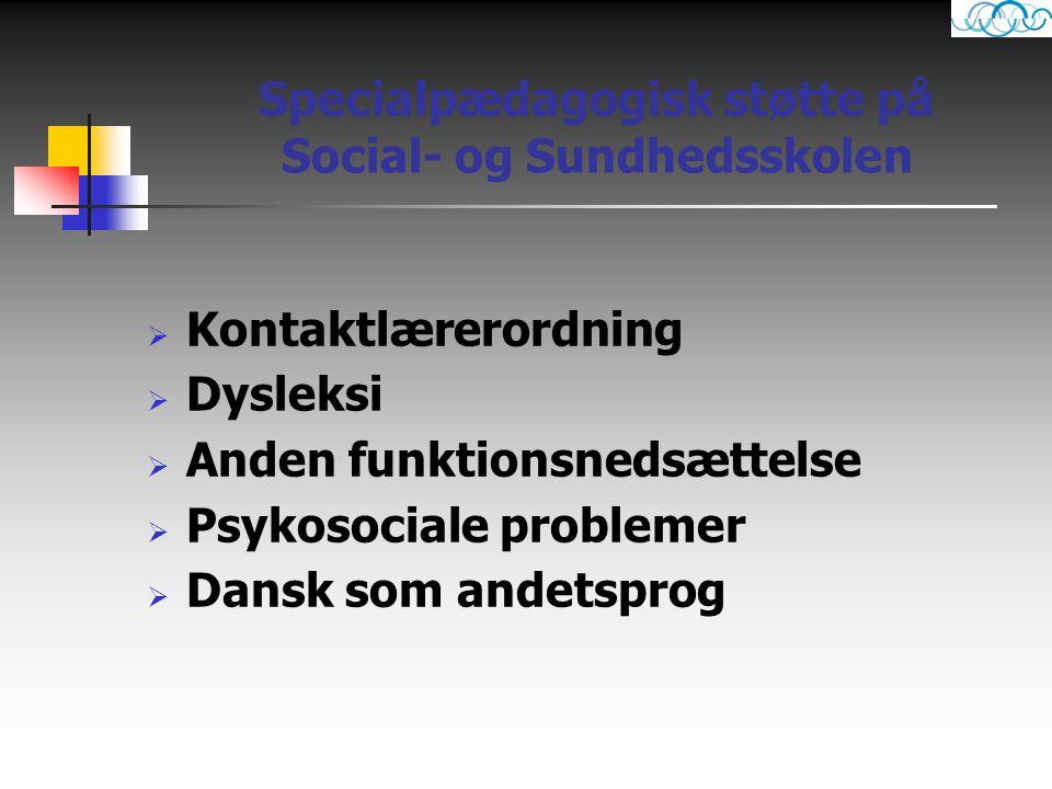 Specialpædagogisk støtte på Social- og Sundhedsskolen