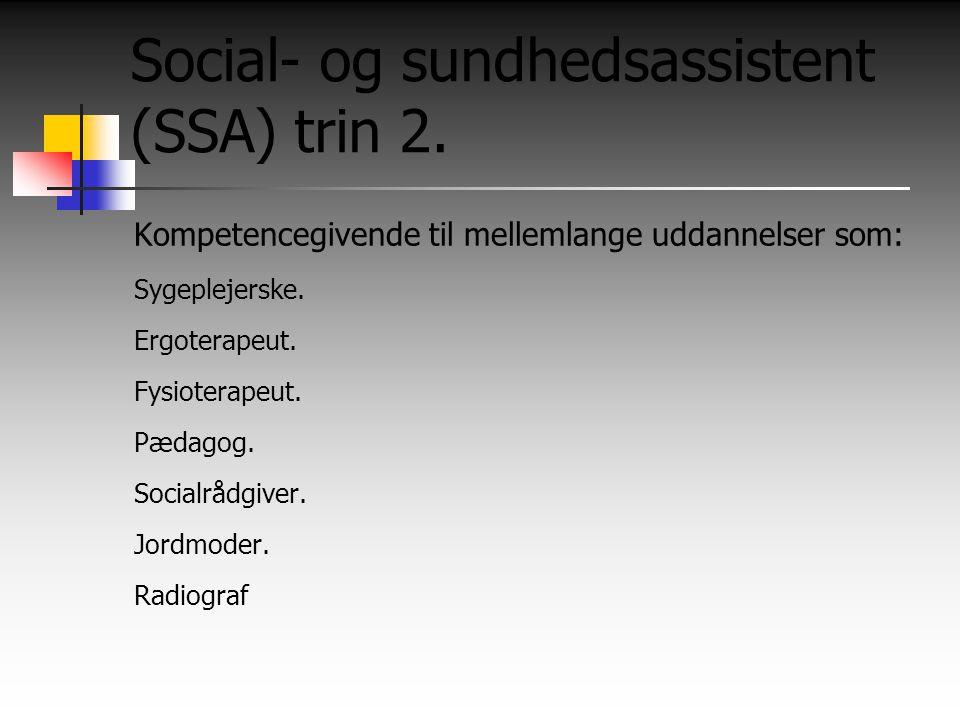 Social- og sundhedsassistent (SSA) trin 2.