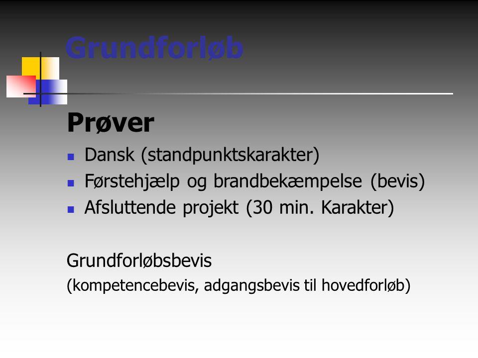 Grundforløb Prøver Dansk (standpunktskarakter)