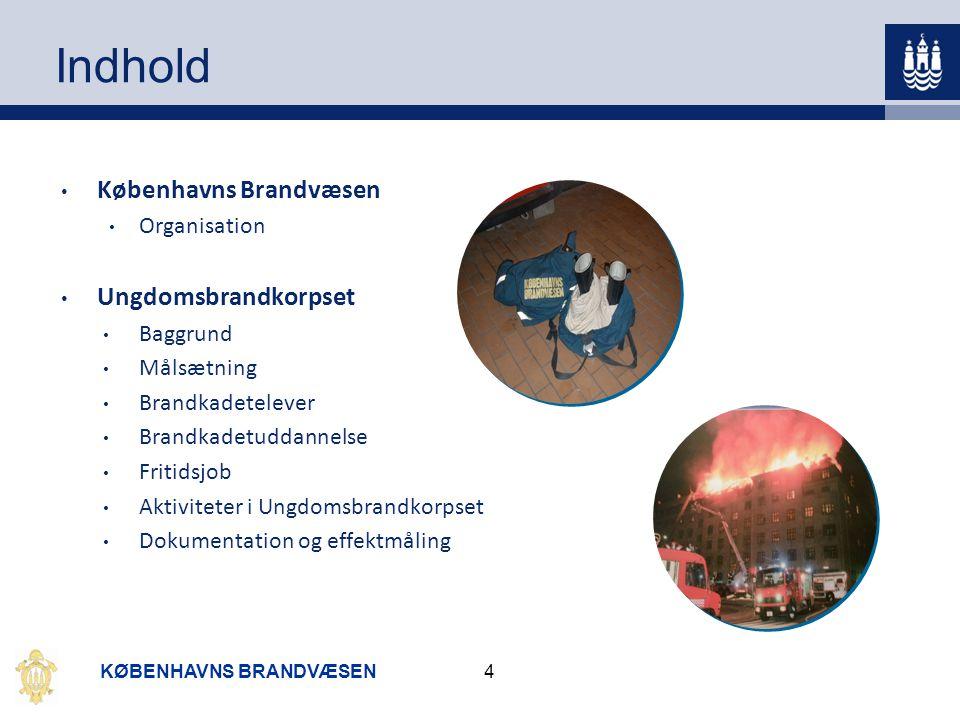 Indhold Københavns Brandvæsen Ungdomsbrandkorpset Organisation