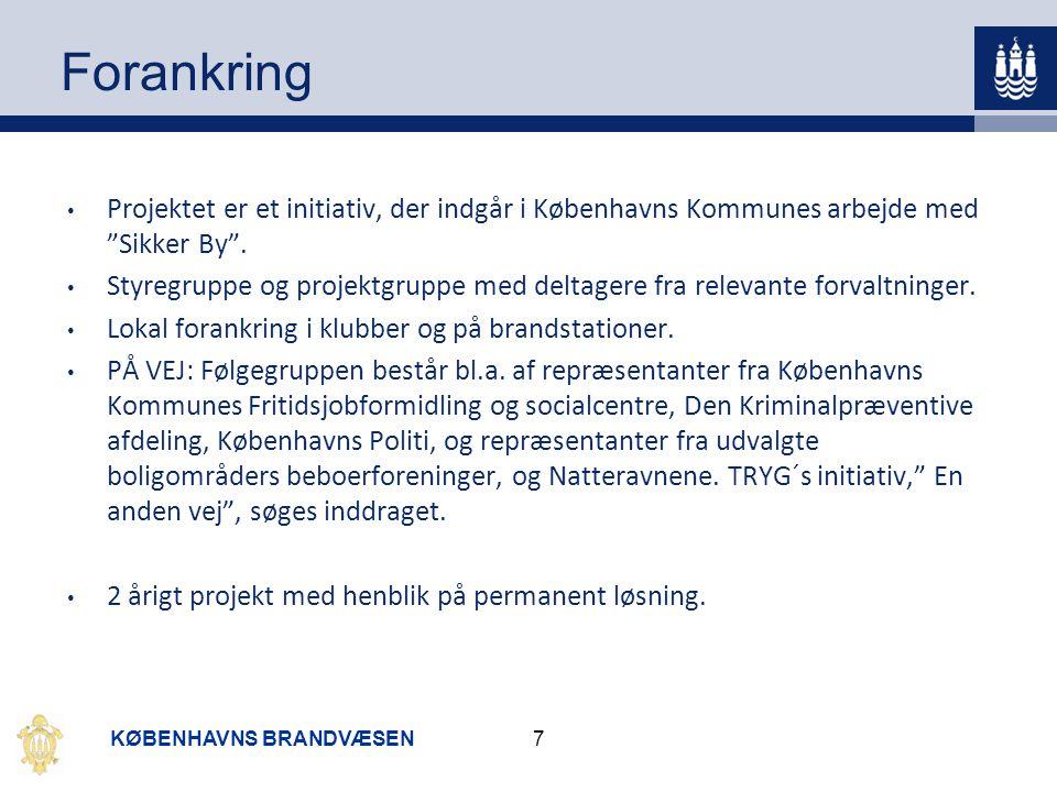 Forankring Projektet er et initiativ, der indgår i Københavns Kommunes arbejde med Sikker By .