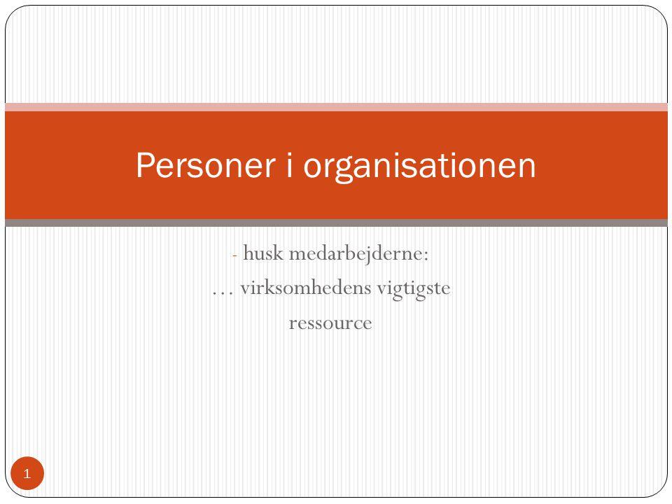 Personer i organisationen
