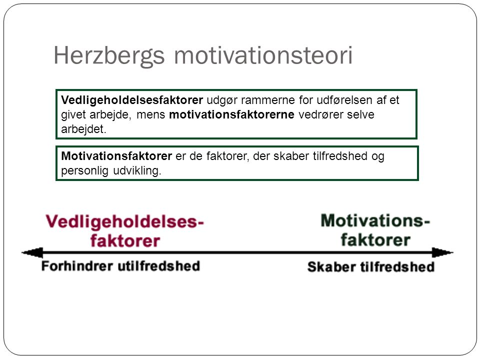 Herzbergs motivationsteori