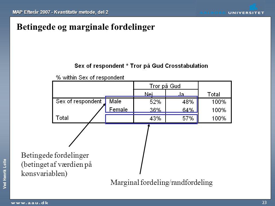 Betingede og marginale fordelinger