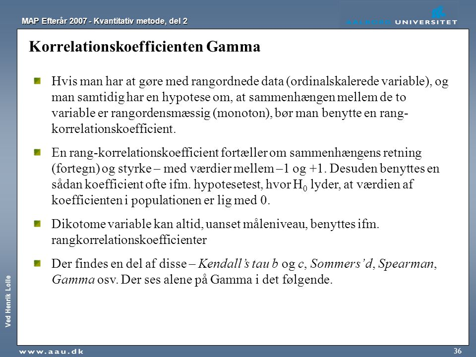 Korrelationskoefficienten Gamma