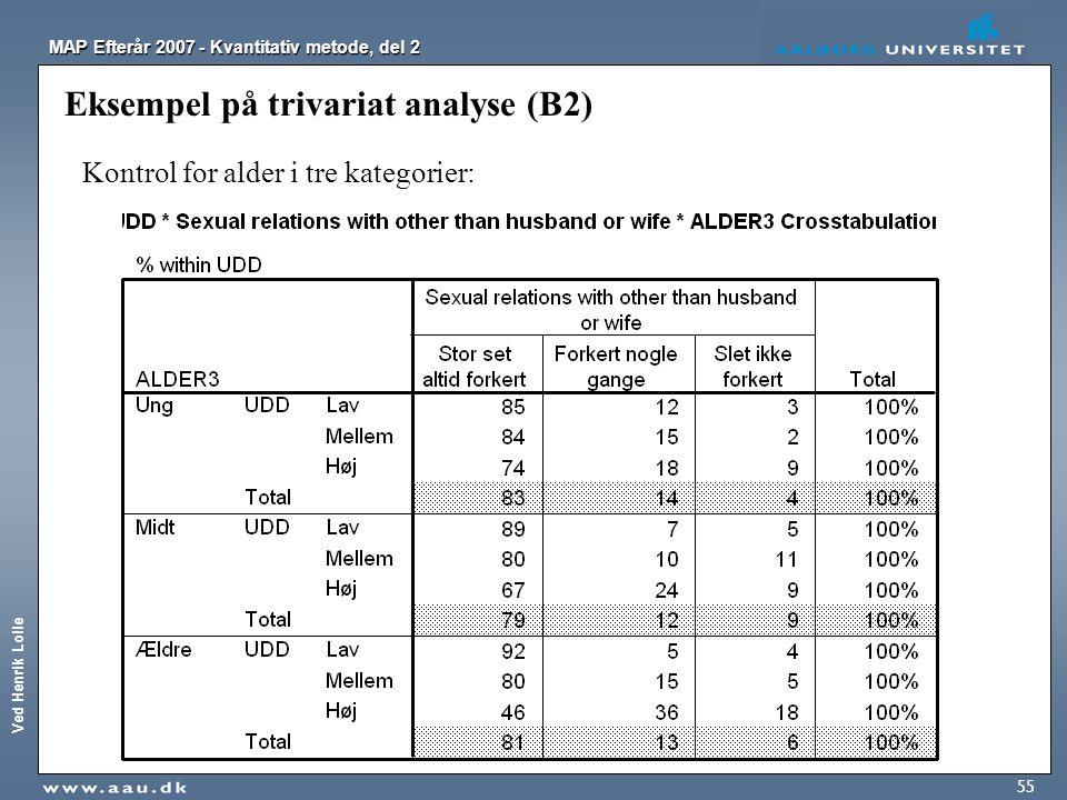 Eksempel på trivariat analyse (B2)