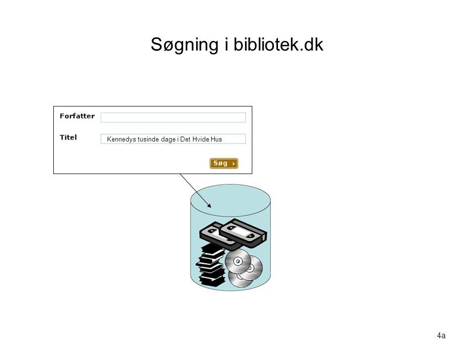 Søgning i bibliotek.dk Visualisering nr. 4a