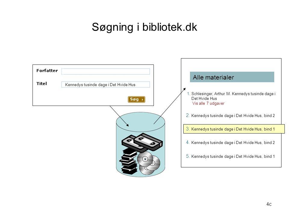Søgning i bibliotek.dk Alle materialer