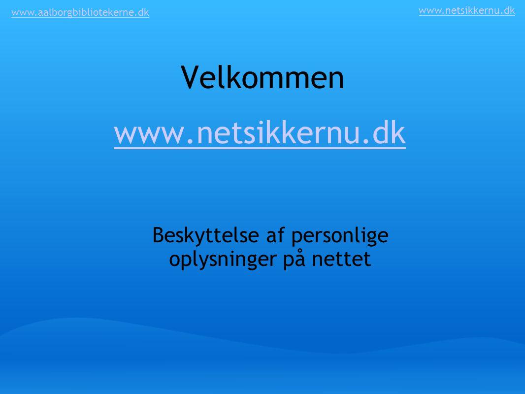 Beskyttelse af personlige oplysninger på nettet