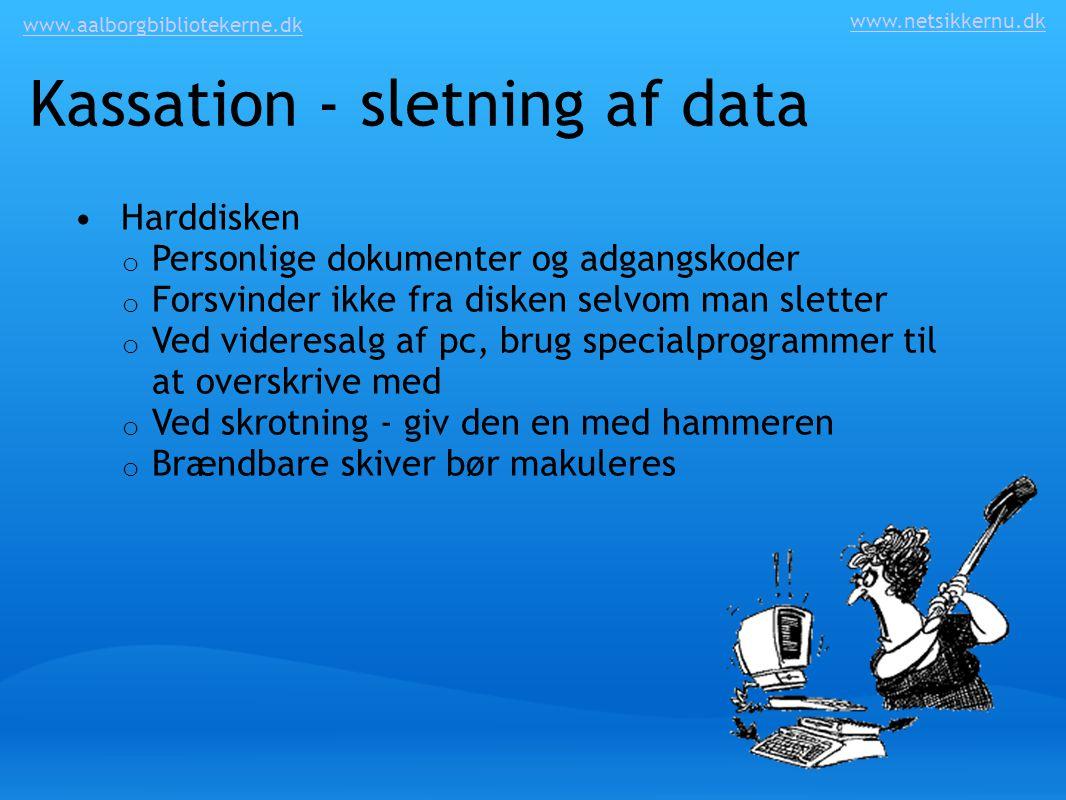 Kassation - sletning af data